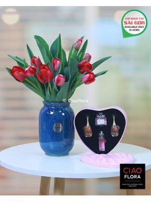 Combo Tulip & Dior Perfume