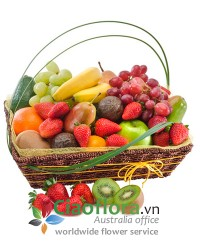 Basket of Mixed Seasonal Fruit