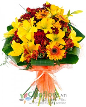 Bouquet in warm colours
