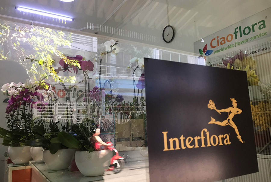 Flower Shop in Saigon with Interflora Logo